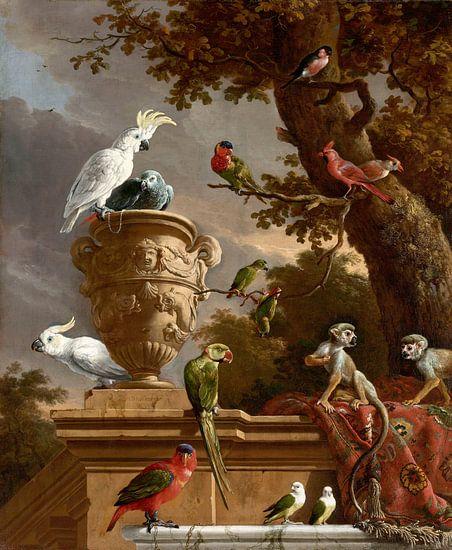 De menagerie, Melchior d'Hondecoeter von Hollandse Meesters