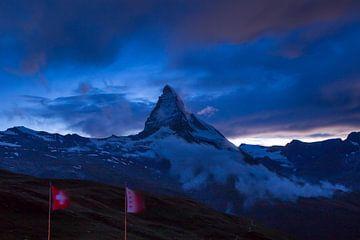 Matterhorn bij nacht van