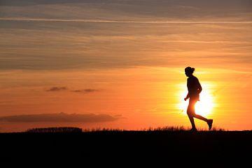 Laufen mit Sonnenuntergang von Bobsphotography