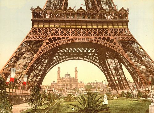Eiffel Tower and the Trocadero, Exposition Universelle, Paris van