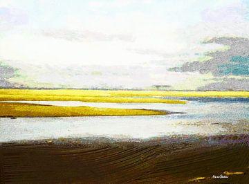 Zeegezicht 3 van Arie Van Garderen
