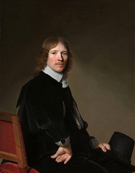Portret van Eduard Wallis, Johannes Cornelisz. Verspronck van Meesterlijcke Meesters