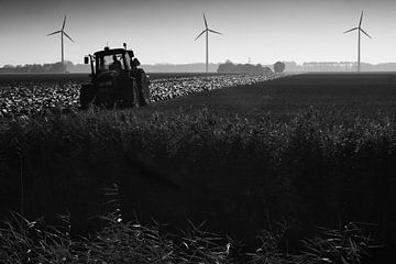 Flevoland, klei en windmolens von Arthur van Iterson