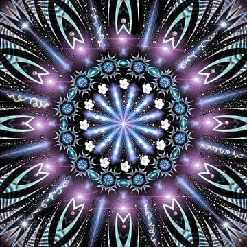 Kosmisches violettes Licht-Mandala von Nina IoKa