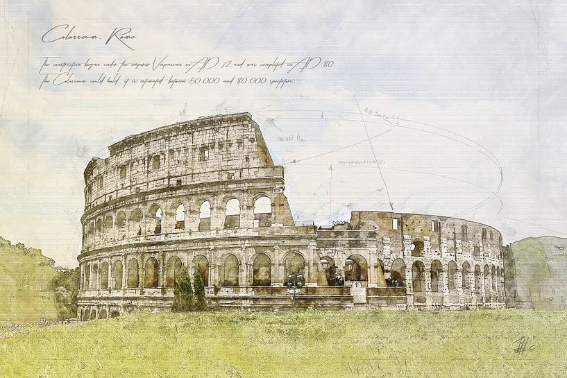 Colosseum, Rome van Theodor Decker