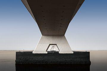 Zeelandbrug abstract van Jeroen Lagerwerf