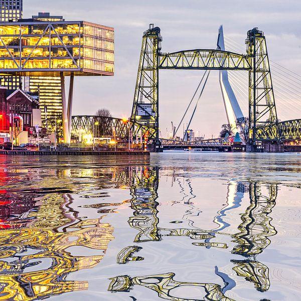 Réflexion de l'eau De Hef Rotterdam sur Frans Blok