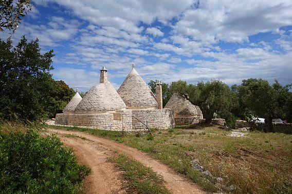 Trulli huizen bij Alberobello in Apulië