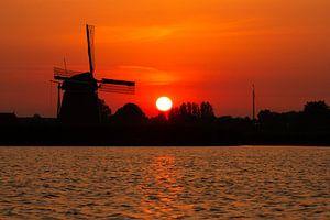 Een Hollands zonsondergang van Dennis Schaefer