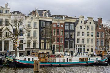 Woonboot in de Amstel van Peter Bartelings Photography