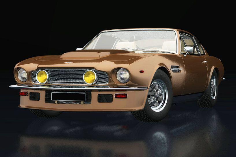 Aston Martin Vantage 1977 drie-kwart zicht van Jan Keteleer