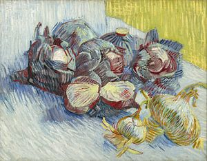 Vincent van Gogh. Rode kolen en uien