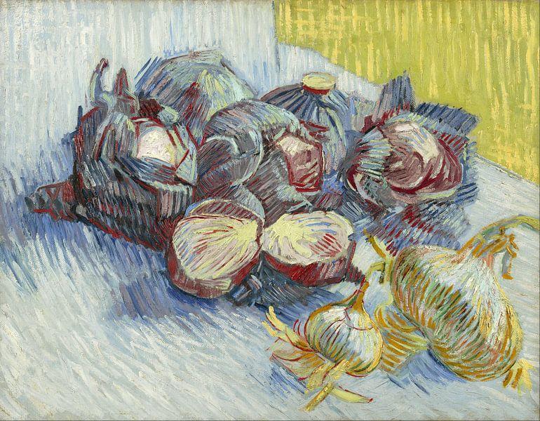 Vincent van Gogh. Rode kolen en uien van 1000 Schilderijen
