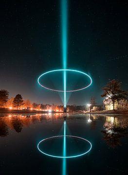 Nächtliche Lichtkunst von Martijn Van Weeghel