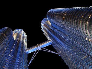 Petronas Twin Towers in Kuala Lumpur Maleisie von Inge van Boekholt