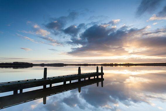 Zonsopkomst aan het Lauwersmeer