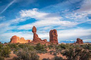 Bijzondere rotsformaties in Arches NP, Utah van