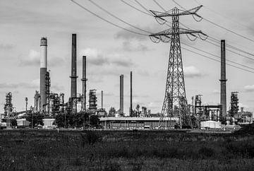 de olieraffinaderij van Alexander Schram (Sander)