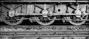 Waggon. Alte Lokomotive.