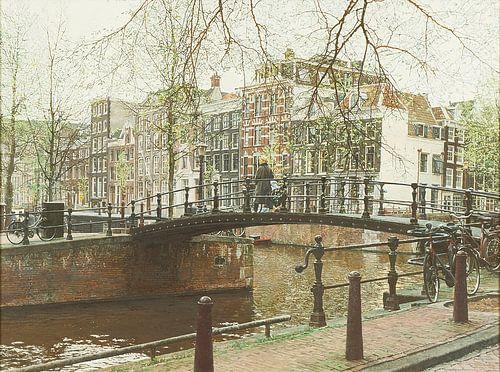 Schilderij, Brouwersgracht-Herengracht von Igor Shterenberg