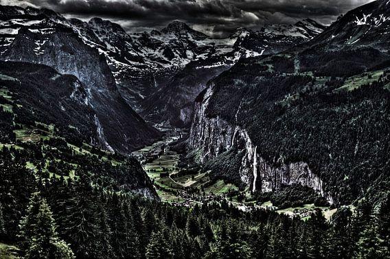 Lauterbrunnen Valley van Wouter Sikkema