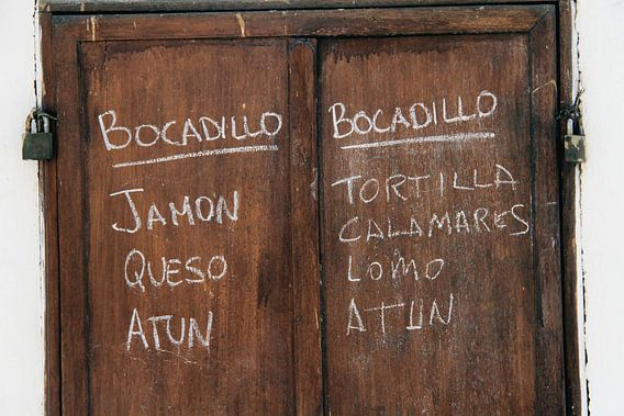 Spaans menubord