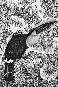 Vintage Bird van Marja van den Hurk