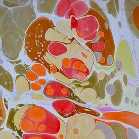 ebru - cellen in oker von Ellen Tijmes