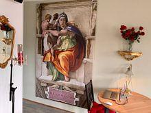 Kundenfoto: Michelangelo. Sixtijnse Kapel, Delphische Sibille, auf leinwand