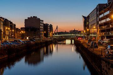 Kortrijk by night 3 van Paquita Six