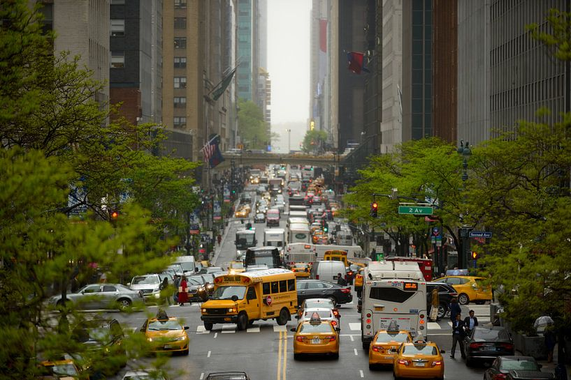 42nd Street in Manhattan, New York van Merijn van der Vliet
