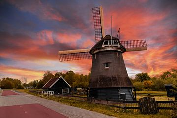Nederlandse windmolen van Digikhmer