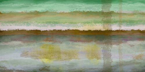 Gelaagd, abstract landschap
