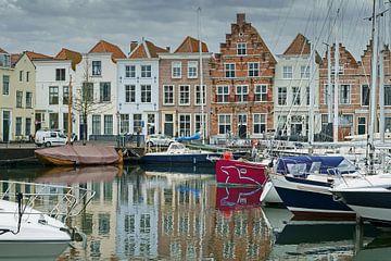 Dromerig beeld van de haven van Goes van Gert van Santen