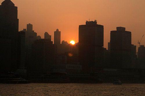 Zonsondergang Hongkong van
