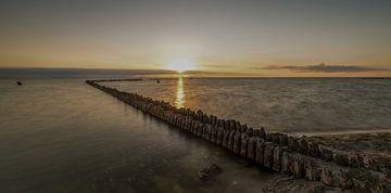 Schöner Sonnenuntergang in Hindeloopen von Marian van der Kallen Fotografie