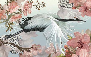 Japanese Crane von Marja van den Hurk