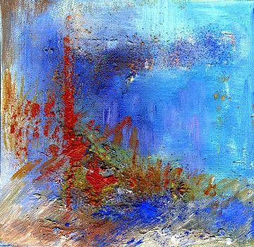 Abstrakt Lichtpunkte 1 von Claudia Gründler