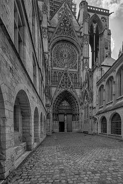 Blick auf die Notre Dame in Rouen. von Peter Bartelings Photography