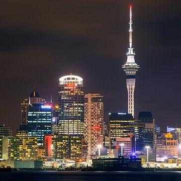 De skyline van Auckland van Henk Meijer Photography