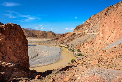 Panorama van het Atlas gebergte. Marokko