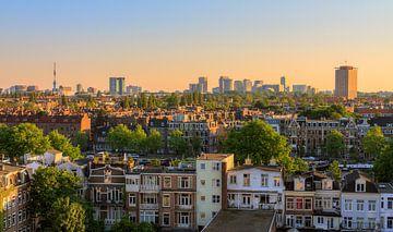 Amsterdam zuid skyline van Dennis van de Water