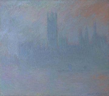 Parlamentsgebäude im Nebel, Claude Monet
