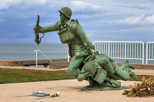 Standbeeld soldaten Omaha Beach van