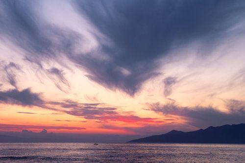 Zonsondergang in Griekenland van