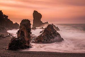Rocks Küste von Island von