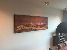 Klantfoto: Skyline Florence at night II van Teun Ruijters, op print op doek