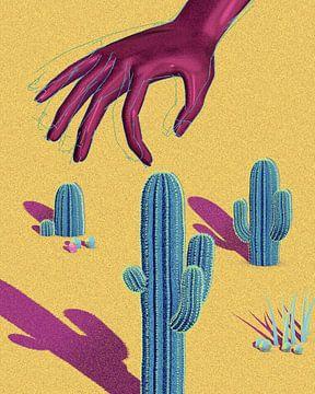 hand cactus saguaro van Klaudia Kogut