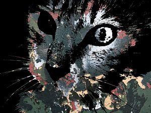 Kattenkunst: Camouflage Cats 2A van MoArt (Maurice Heuts)