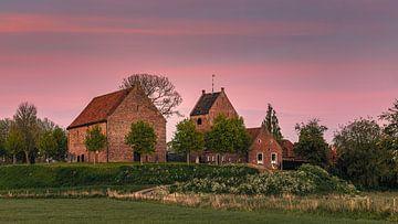Sonnenuntergang in Ezinge, Groningen, Niederlande von Henk Meijer Photography